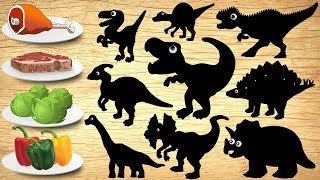 Dinosaurs Puzzle for Children | Dinosaur Jurassic World Name and Sounds for Kids Learning