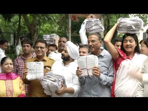 Delhi MLA's Led by Convenor Gopal Rai Proceed to Submit Letters at PMO Demanding Full State Hood