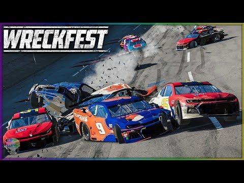 NASCAR CAMARO CARNAGE! [TALLADEGA SUPER] | Wreckfest