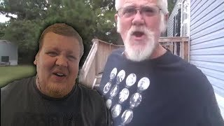 Angry Grandpa Cleanin the D@mn Yard! REACTION!!!