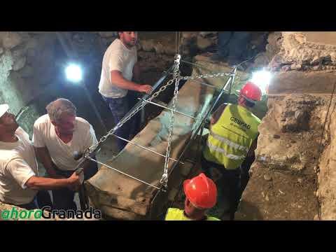 Hallan un sarcófago romano en el centro de Granada