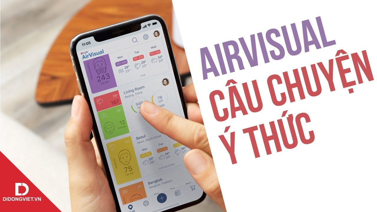 AirVisual và câu chuyện ý thức