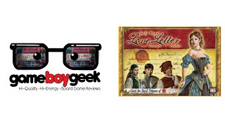 Love Letter Premium Edition Review with the Game Boy Geek