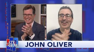 "John Oliver: How I'm Hosting ""Last Week Tonight"" In Isolation"