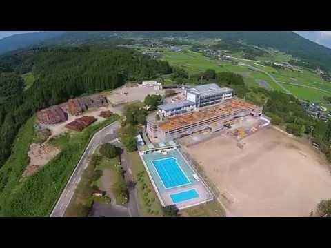 ヤマガ空撮 - 熊本県山鹿市立六郷小学校【HD】