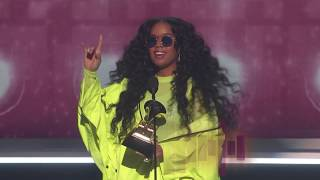 H.E.R. Wins Best R&B Album Presented by BTS | 2019 GRAMMYs Acceptance Speech
