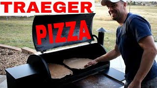 Homemade🍕Pizza🍕 & Crust On The TRAEGER GRILL--Easy, Fast W/ Recipe!