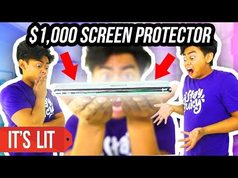 $1 VS $1000 iPhone X SCREEN PROTECTOR!
