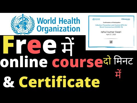 WHO Free online courses with certificate #WithMe covid-19 infection ...