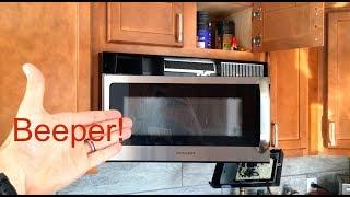 turn off beep on frigidaire microwave