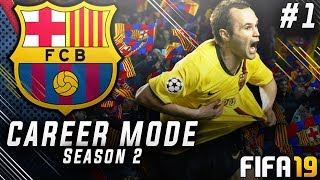 FIFA 19 Barcelona Career Mode EP1   Bringing Back Andres Iniesta!! Insane £300m Transfer Budget!!