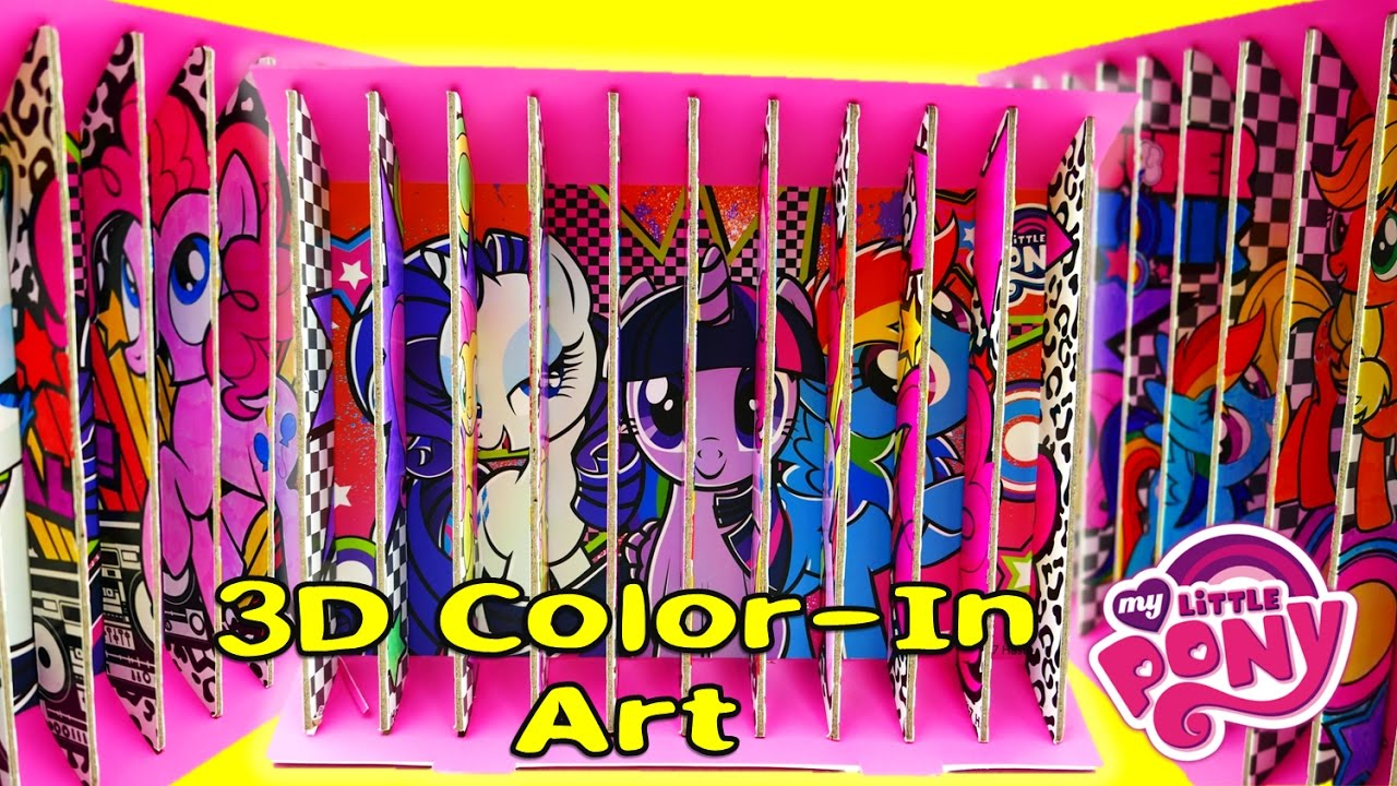DIY My Little Pony 3D Color In Art MLP Coloring Pages | Evies Toy House