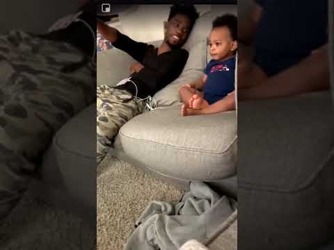 Baby having a full damn conversation with his daddy