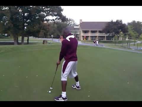 Texas A&M football on the golf course