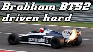 1983 Brabham BT52 Driven Hard Shooting Huge Flames (2013 Nürburgring Demo)