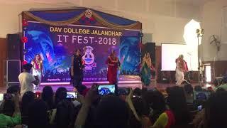 Dav college jalandhar bhangra(IT fest 2k18)..first position in group performances