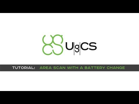 UgCS Area Scan with Terrain Following mode with Battery Change