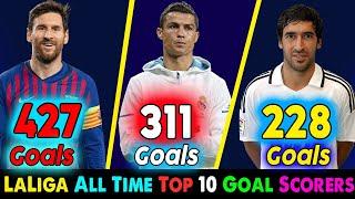 La-Liga All Time Top 10 Goal Scorer ⚽ Lionel Messi, Cristiano Ronaldo, Raul La-Liga Top Scorer.