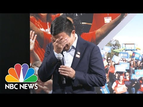 Yang Breaks Down After Mother Tells Of Child Killed By Stray Bullet | NBC News
