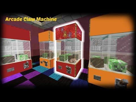 Minecraft How To Make An Arcade Claw Machine Minecraft