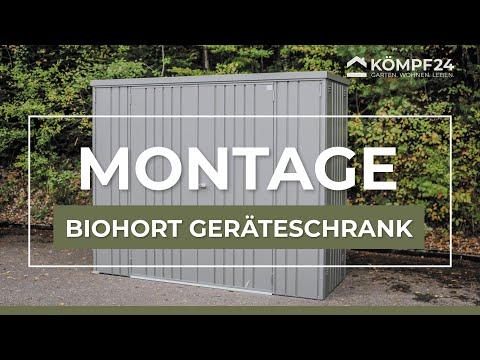 Biohort Geräteschrank - Aufbau und Montage