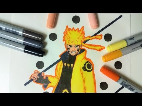 Drawing Naruto Six Paths Sage Mode - Naruto Shippuden