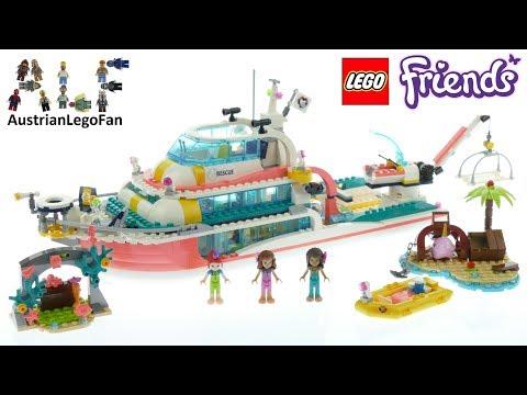 Vidéo LEGO Friends 41381 : Le bateau de sauvetage