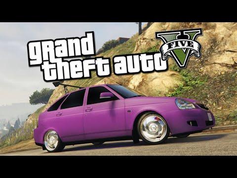 GTA 5 Mods : Lada Priora Hatchback - ОБЗОР