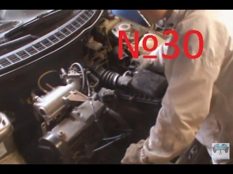 Ремонт ваз 2110 Часть первая  Замена подушек двигателя.