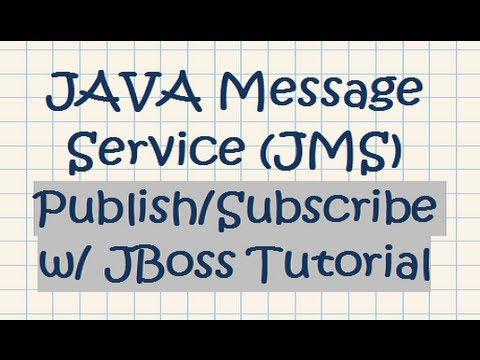 JAVA Message Service (JMS) Publish/Subscribe w/ JBoss Tutorial