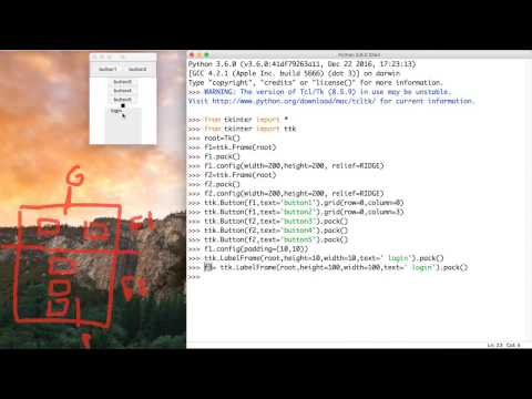 48-  Python GUI ||  Frame- النوافذ