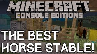 Minecraft: TU19 BEST HORSE STABLE DESIGN! Clever Trick! (Xbox/Playstation)