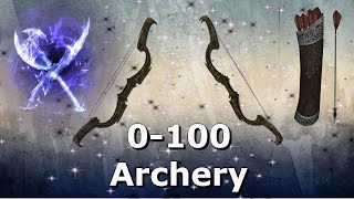 Skyrim How To Get Level 100 Archery INSANELY QUICK!!!