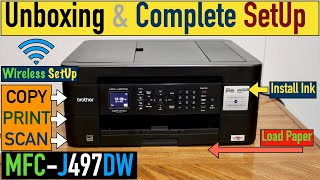 Brother MFC-J497DW SetUp, Unboxing, Wireless SetUp Windows 10, Copy,  Wireless Print & Scan, Review.