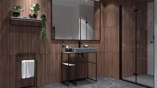 Piękne, kamienne umywalki i brodziki oraz modułowa konsola łazienkowa - nowa kolekcja Correo