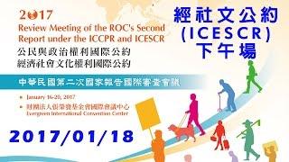 20170118 經社文公約第二次國家報告國際審查會議 (ICESCR)_下午場次