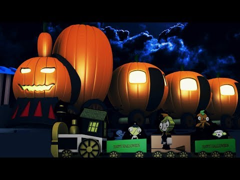 Halloween - halloween train -Train Cartoon for children - toy factory - pumpkin train