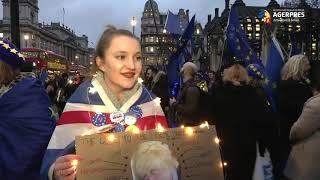 Brexit/REPORTAJ Lângă Parlamentul britanic, oamenii aşteaptă o diviziune profundă sau 'ziua cea mai frumoasă'