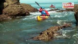 preview picture of video 'Tide Race Kayaking In Jersey, La Tour De Rozel, BCU 3 Star Training.'