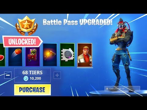 Buying All 100 Tiers Season 6 Battle Pass All Unlocked Fortnite