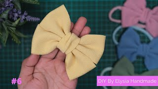WITHOUT SEWING!! HOW TO MAKE A HAIR BOW | EASY BOW TUTORIAL #6 BY Elysia Handmade
