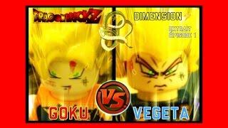 GOKU VS VEGETA Combat Stop motion LEGO