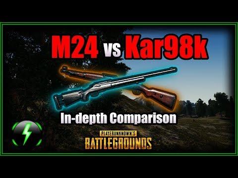現在版的Kar98k vs M24 vs AWM 各種數據比較