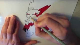 Drawing all the Pokemon: Number 335 Zangoose