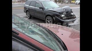Поворот налево стал причиной очередной аварии в Хабаровске. Mestoprotv