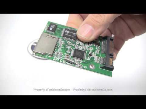 Adaptador de 2.5 SATA-HDD de 1 memoria flash SDHC  distribuido por CABLEMATIC ®