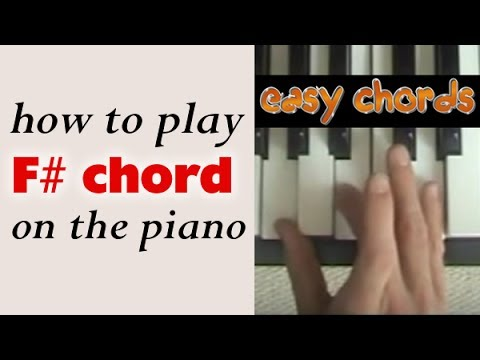 F# Piano Chord - how to play F sharp major chord on the piano