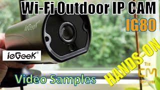 ieGeek IG80 Test:  Security IP CAM  Outdoor Hands-on (Deutsch, engl. hints)