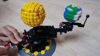 Lego - Orrery. Planetostroj - Slunce, Země, Měsíc