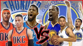 WHICH BIG 3 IS BETTER? THUNDER OR THE WARRIORS?! - NBA 2K18 Blacktop Gameplay